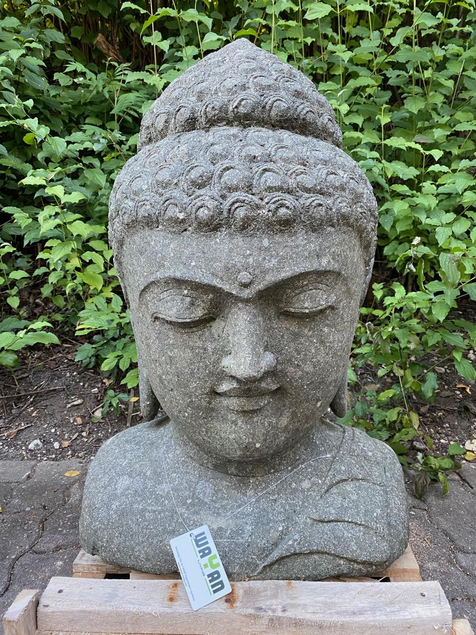 Buddhabüste Steinfigur