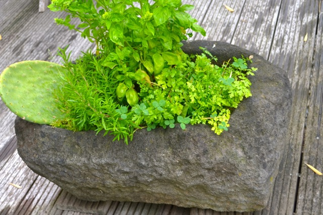 Pflanztrog aus Stein