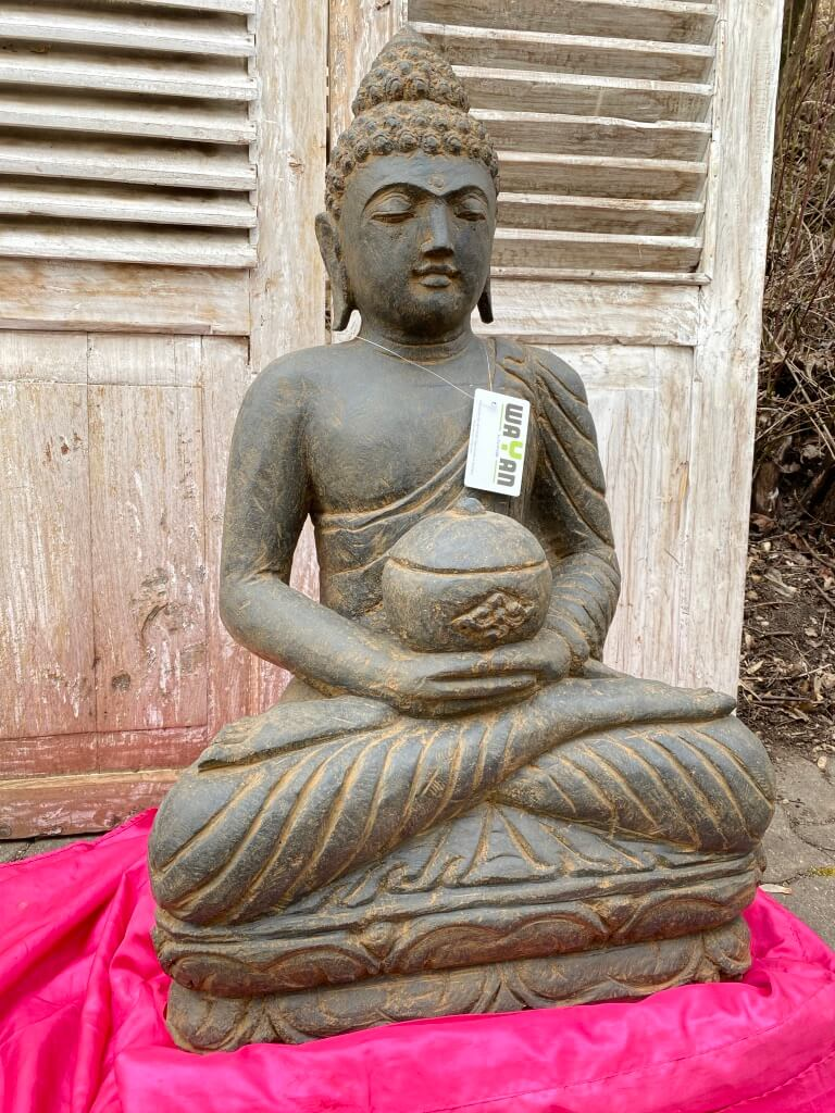 Medizinbuddha Steinfigur Antikstyle 80 cm
