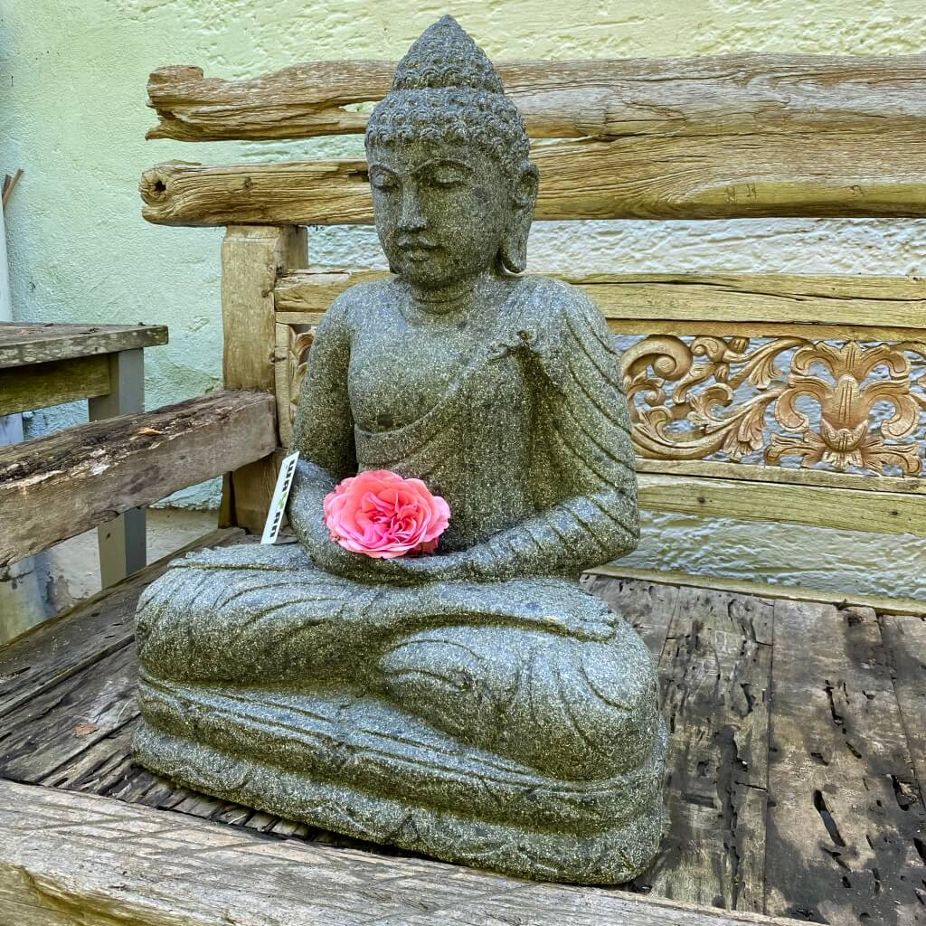 Buddhafigur Steinbuddha 64 cm