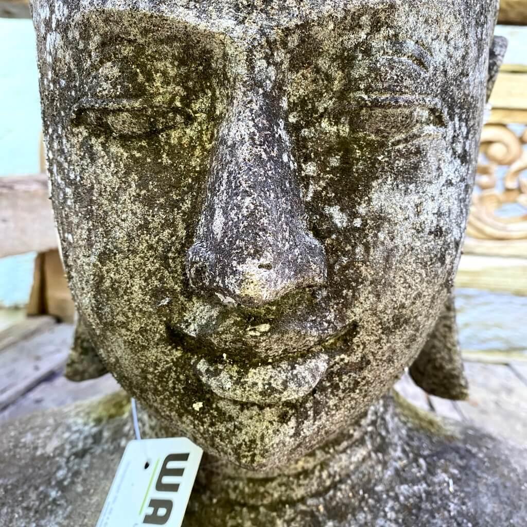Buddhakopf antik aus Riverstone 45 cm